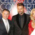 """Franz Wohlfahrt, Ricky Martin et Elisabeth Hirnigel lors du cocktail avant le """"Red Ribbon Celebration Concert"""" au palais du Liechtenstein à Vienne, le 30 mai 2014."""