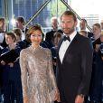 La comtesse Alexandra de Frederiksborg et son mari Martin Jorgensen le 1er juin 2014 au siège de Radio Danemark à Copenhague pour le gala en l'honneur des 80 ans du prince consort Henrik.