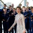 La comtesse Alexandra de Frederiksborg le 1er juin 2014 au siège de Radio Danemark à Copenhague pour le gala en l'honneur des 80 ans du prince consort Henrik.