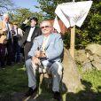 Le prince Henrik de Danemark à Bornholm le 20 mai 2014, distingué par le prix Artiste d'honneur alors qu'une rétrospective de ses oeuvres est présentée à l'occasion de son 80e anniversaire