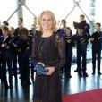 Helle Thorning-Schmidt le 1er juin 2014 au siège de Radio Danemark à Copenhague pour le gala en l'honneur des 80 ans du prince consort Henrik.