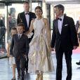 La princesse Mary et le prince Frederik de Danemark avec leurs enfants le prince Christian et la princesse Isabella le 1er juin 2014 au siège de Radio Danemark à Copenhague pour le gala en l'honneur des 80 ans du prince consort Henrik.