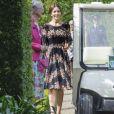 La princesse Mary de Danemark à l'Orangerie du château de Fredensborg pour une réception en l'honneur des 80 ans du prince Henrik, le 2 juin 2014.