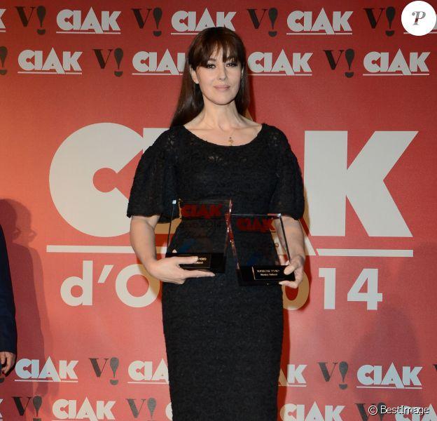 Monica Bellucci à la soirée des Gold Ciak Awards à Rome en Italie le 3 juin 2014.