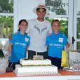 Le joueur Rafael Nadal fête ses 28 ans pendant Roland-Garros à Paris, le 3 juin 2014.
