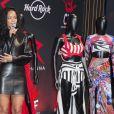 Rihanna, en conférence de presse au Hard Rock Cafe dans le 9e arrondissement. Paris, le 5 juin 2014.