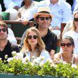 Antoine Arnault, Natalia Vodianova, Xavier Niel et Delphine Arnault lors de la finale homme des Internationaux de France de tennis de Roland-Garros à Paris, le 8 juin 2014.
