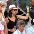 Xisca Perello (compagne de Rafael Nadal) lors de la finale homme des Internationaux de France de tennis de Roland-Garros à Paris, le 8 juin 2014.