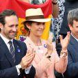 L'Infante Elena d'Espagne lors de la finale homme des Internationaux de France de tennis de Roland-Garros à Paris, le 8 juin 2014.