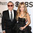 Thalia et son mari Tommy Mottola lors de la 68e cérémonie des Tony Awards à New York, le 8 juin 2014.