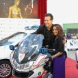 """Jon Seda et Monica Raymund - Photocall de la série """"Chicago P.D."""" pendant le 54e Festival de Télévision de Monte-Carlo, le 9 juin 2014."""