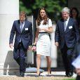 Kate Middleton au Musée maritime national de Greenwich, à Londres, le 10 juin 2014, pour soutenir Sir Ben Ainslie dans sa campagne pour la 35e Coupe de l'America, qui sera disputée en 2017.