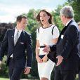 Kate Middleton, duchesse de Cambridge, au Musée maritime national de Londres, le 10 juin 2014, pour soutenir Sir Ben Ainslie dans sa campagne pour la 35e Coupe de l'America, qui sera disputée en 2017.