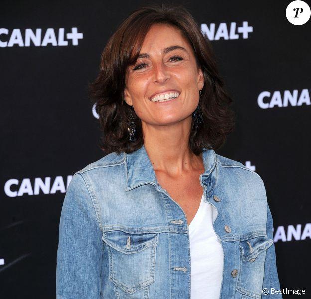 Nathalie Iannetta lors de la soirée de rentrée de Canal+ organisée à Paris, le 28 août 2013.