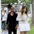 Khloé Kardashian et Scott Disick quittent la boutique de vêtements 25 Park, à Bridgehampton. Le 11 juin 2014.