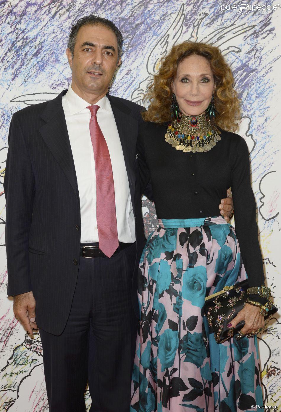 Marisa Berenson et son compagnon Jean-Michel Simonian à Paris le 13 mai 2014.