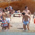 Novak Djokovic et ses amis lors de l'enterrement de sa vie de garçon, le 11 juin 2014 à Ibiza