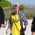 Justin Bieber fait du Segway sur la plage à Miami, le 22 janvier 2014.