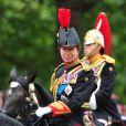 La princesse Anne, en uniforme de colonel des Blues and Royals, lors de la parade Trooping the Colour marquant le 14 juin 2014 la célébration solennelle des 88 ans de la souveraine.