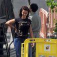 """Penélope Cruz et Luis Tosar sur le tournage du film """"Ma Ma"""" à Madrid, le 4 juin 2014."""