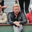 Boris Becker lors des Internationaux de France de tennis de Roland Garros à Paris, le 1er juin 2014