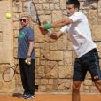 Novak Djokovic et Boris Becker, au country Club de Monte Carlo, le 15 avril 2014
