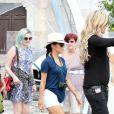Eva Longoria dans les rues de Taormine à l'heure du festival du film qui se déroule dans la ville, le 17 juin 2014