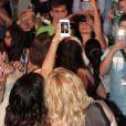 Eva Longoria et Melanie Griffith lors du Taormina Film Festival en Italie le 17 juin 2014. Elle a reçu un prix pour saluer son oeuvre humanitaire et porte une robe Pamela Rolland