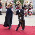 Gérard Holtz et sa femme Muriel Mayette-Holtz - Dîner d'état en l'honneur de la reine d'Angleterre donné par le président français au palais de l'Elysée à Paris, le 6 juin 2014, pendant la visite d'état de la reine après les commémorations du 70ème anniversaire du débarquement.