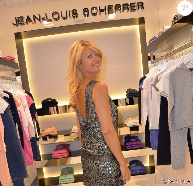Lynda Lacoste assiste à l'inauguration de la nouvelle boutique Jean-Louis Scherrer au 111, rue du faubourg Saint-Honoré à Paris, le 19 juin 2014.
