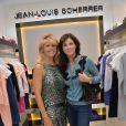 Lynda Lacoste et Caroline Barclay à l'inauguration de la nouvelle boutique Jean-Louis Scherrer au 111, rue du faubourg Saint-Honoré à Paris, le 19 juin 2014.