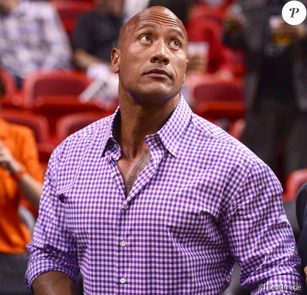Dwayne Johnson à Miami, le 27 février 2014.