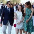 Gad Elmaleh, Charlotte Casiraghi et la princesse Alexandra de Hanovre lors de l'inauguration du Yacht-Club de Monaco, le 20 juin 2014 au port Hercule de Monaco