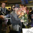 La chanteuse Anastacia arrive à Berlin, le 6 novembre 2013.