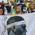 La famille de Rémy Cabella lors du match de l'équipe de France face à l'Equateur, le 25 juin 2014 au stade Maracanã de Rio