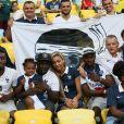 La famille de Blaise Matuidi lors du match de l'équipe de France face à l'Equateur, le 25 juin 2014 au stade Maracanã de Rio