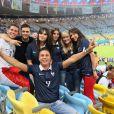 La Famille d'Olivier Giroud avec son épouse Jennifer lors du match de l'équipe de France face à l'Equateur, le 25 juin 2014 au stade Maracanã de Rio