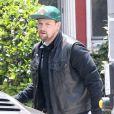 Exclusif - Benji Madden se rend dans une animalerie pour acheter un chaton à sa petite-amie Cameron Diaz à Los Angeles, le 25 juin 2014.