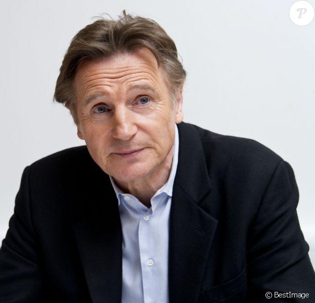 """Liam Neeson - Conférence de presse du film """"Non-stop"""" à New York le 8 février 2014."""