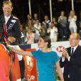 Le prince Albert II de Monaco, Charlotte Casiraghi - SAS le prince Albert II de Monaco et Charlotte Casiraghi le 28 Juin 2014 à Monaco