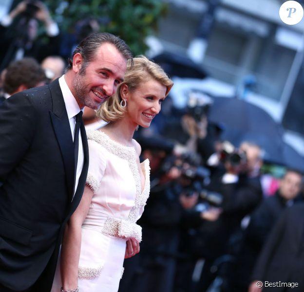 Jean Dujardin et Alexandra Lamy lors du Festival de Cannes 2012
