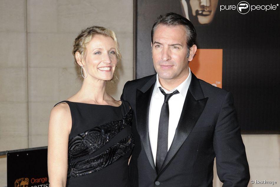 Jean dujardin et alexandra lamy lors des bafta londres for Jean dujardin couple 2014