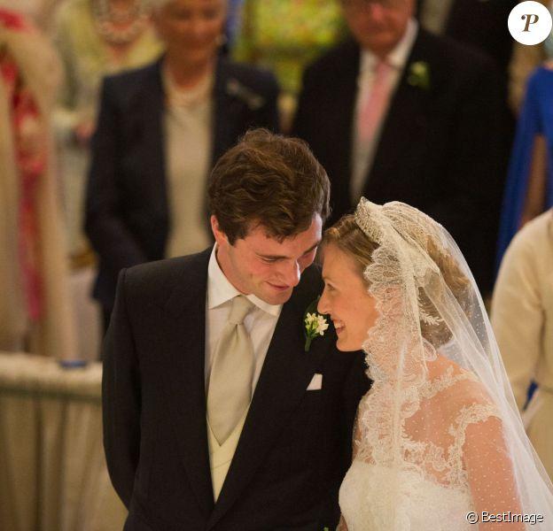 Mariage du Prince Amedeo de Belgique et Elisabetta Maria Rosboch von Wolkenstein. Les amoureux se sont dit oui à Rome le 5 juillet 2014  -