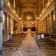 Basilique de Santa Maria in Trastevere - Mariage du Prince Amedeo de Belgique et de Elisabetta Maria Rosboch von Wolkenstein, à la basilique de Santa Maria à Trastevere, Rome, Italie le 5 juillet 2014.