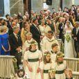 Des mariés aux anges ! Le prince Amedeo et Elisabetta Maria Rosboch von Wolkenstein ont célébré leur mariage le 5 juillet 2014 à Rome