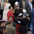 Ségolène Royal - Défilé pour la Fête nationale sur les Champs-Elysées en hommage aux sacrifice des troupes alliées dans la Première Guerre mondiale il y a cent ans. Le 14 juillet 2014.