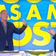 Philippe Risoli et Valérie Bénaïm dans Touche pas à mon poste sur D8, le lundi 14 juillet 2014.