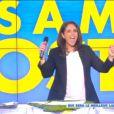 Valérie Bénaïm dans Touche pas à mon poste sur D8, le lundi 14 juillet 2014.