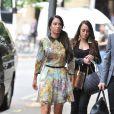 Tulisa Contostavlos devant le tribunal de Southwark le 15 juillet 2014, où débute son procès. Inculpée de trafic de cocaïne, elle a plaidé non coupable.
