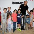 Tony Parker lors de l'événement 'Halle we want for summer is Tony Parker' au Carreau du Temple à Paris, le 2 juillet 2014